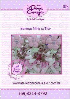 boneca Nina com Flor tem moldes