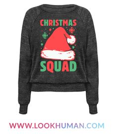 This squad shirt is great for all lovers of Christmas who just can't get enough christmas movies, carols, santa and presents cuz you're rolling with your christmas squad. This christmas shirt is perfect for fans of christmas quotes and christmas shirts.