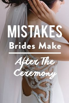 The hardest, most important part of your wedding day is over–you said 'I do.' Congrats! But before you send your cares to wind and move on to the reception to get the party started, there are a few extra important things that need to happen before you start dancing the night away.