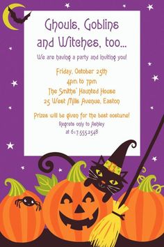 Witch's Crew Invitation - Party City