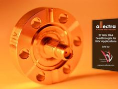 """We are proud to be able to offer Allectra's double sided SMA feedthroughs with an extended frequency range up to 27 GHz - aka """"Super-SMA."""" They are a cost effective alternative to the SMA-K/2.92mm versions when frequencies above 27 GHz are not required. They feature a stainless steel housing with a gold plated center contact. The smallest mounting flange is a 1.33"""" CF/DN16, and up to 4 of these feedthroughs can be fitted to a 2.75"""" CF/DN40 flange. They are also helium leak tight down to < 5… Advertising Services, Marketing And Advertising, Thing 1, Steel House, Alternative, Range, Stainless Steel, Gold, Things To Sell"""