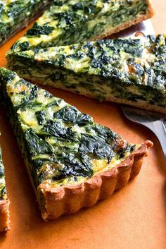 This is a classic combination for a quiche, but it's lighter, with a whole-wheat and olive oil crust If you don't have the time to make the crust, store bought will work just fine.