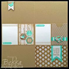 Project Life Inspired Scrapbook Page - skip the special page protectors and just use the layout in a regular scrapbook page