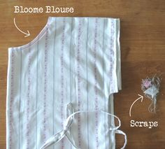 Sew your own easy Zero Waste blouse - NaaiPatroon Bloome Blouse - SewNatural Sew Your Own Clothes, Zero Waste, Clothing Patterns, Bloom, Tutorials, Sewing, Easy, Fashion, Moda