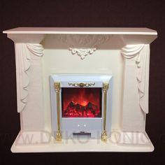 Medusa Mäander Marble decorative fireplace Electric fireplace Electric fireplace Fireplace