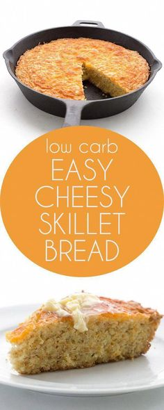 easy Low Carb Skillet Bread is delicious on its own but it also makes the BEST keto Thanksgiving Stuffing! via easy Low Carb Skillet Bread is delicious on its own but it also makes the BEST keto Thanksgiving Stuffing! No Bread Diet, Best Keto Bread, Low Carb Bread, Low Carb Keto, Keto Corn Bread, Keto Foods, Ketogenic Recipes, Ketogenic Diet, Pescatarian Recipes