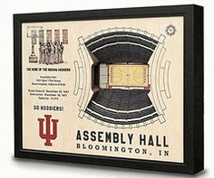 NCAA College Indiana IU Hoosiers 3-D Basketball Arena Replica Collectible Wall Art Shadow Box, 9022336