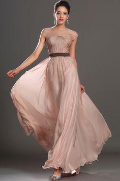 2013 New Fabulous Sleeveless Evening Dress - Sleeveless, fully pleated bodice, two Tone Silk Chiffon Fabric
