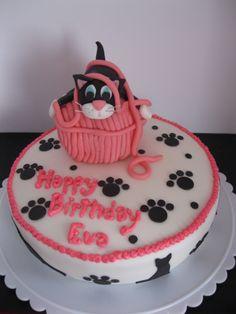 Eva's cat birthday cake