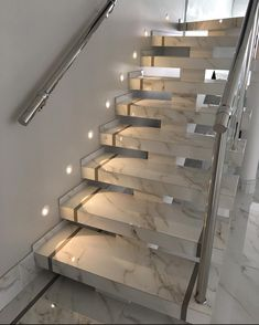 Home Stairs Design, Interior Stairs, Dream Home Design, Home Interior Design, Luxury Kitchen Design, House Front Design, Modern House Design, Modern Stairs Design, Modern Houses