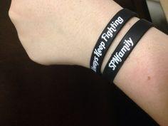 Always Keep Fighting fundraising wristbands by AlwaysKeepFighting