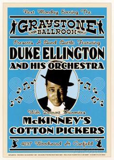 デューク・エリントン・オーケストラ - グレイストーン・ボールルーム, NYC 1933 アートプリント