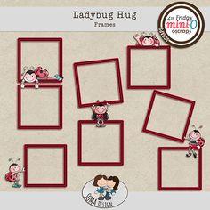 SoMa Design Ladybug Hug Frames Ladybug, Digital Scrapbooking, Hug, Gallery Wall, Holiday Decor, Frames, Design, Ideas, Lady Bug