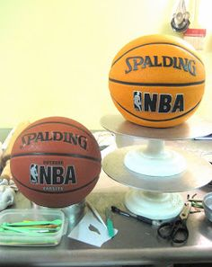 how to make a basketball cake
