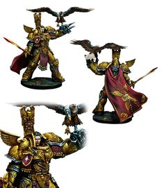 """tylerdscott:  Time to make up for my excessive heresyposting with a """"Celestial Knight"""" by Kabuki Models. This model is gorgeous, but the proportions are close-to-correct, which of course means the proportions are all wrong for 40k. They got the tiny head right, though!"""
