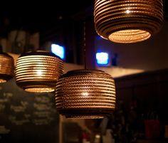cardboard lights.