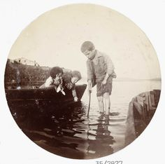 Boy paddling in the sea, about 1890 Collection of National Media Museum/Kodak Museum