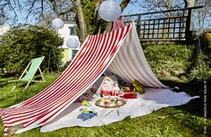 Garden tent, arbor and pergola: how to choose? Fun Outdoor Games, Outdoor Activities For Kids, Fun Games, Pergola, Cabana, Cosy Tent, Outdoor Rooms, Outdoor Decor, Ikea Home