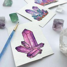 Crystal Watercolor paintings. How cute!