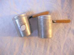 Vintage Gavel Style BBQ Metal Salt and Pepper Shakers