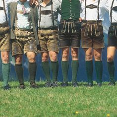 A group of men are showing off their traditional Lederhosen in Styria, Austria .© Österreich Werbung/ H.Wiesenhofer #feelaustria