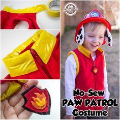 No-Sew PAW Patrol Marshall Costume
