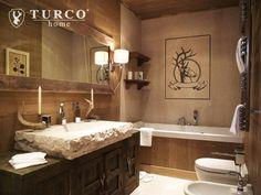 Ванные комнаты в Рустикальный. Автор - turco home srl