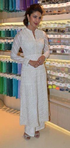 Priyanka Chopra in an Anita Dongre Suit for Usha Sewing - Anita Dongre | Indian Designers