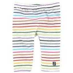 Fendi leggings with multicoloured stripes