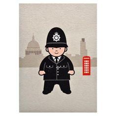 Little London: Policeman Greetings Card