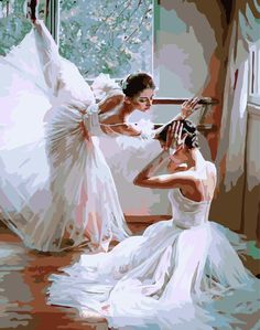 [ New Release, Wooden Framed or Not ] Diy Oil Painting by Numbers, Paint by Number Kits - Ballet Dancing 16*20 inches - PBN Kit for Adults Girls Kids Christmas - D121: Amazon.ca: Home & Kitchen
