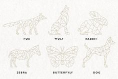 Geometric Animals Collection // Wildlife Geometric Bundle //