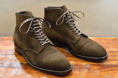 Alden Choco Suede Plaza Shoes