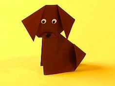 Hund basteln, Dog Origami, Puppy Origami, Animal Origami Pattern, how to , steb by step, Tutorial, kawaii, adorable, cute papercrafts for kids