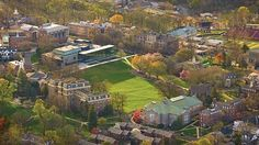 View of Lafayette College campus on a fall day in Easton, Pennsylvania