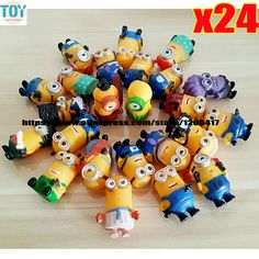 Find More Action & Toy Figures Information about New 24pcs Minions Dolls Cosplay Despicable Me Toys 4 6cm Cartoon Figures 3D Eye Christmas Gifts for Baby Kids Repeats in Stock,High Quality baby gift jewelry,China baby poker Suppliers, Cheap gifts piano from Toys in the Kingdom on Aliexpress.com