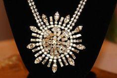WEISS Diamante Crystal RHINESTONE Runway by MyJewelsBoutique