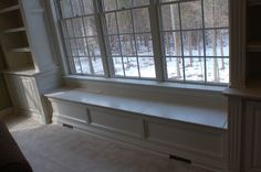 Custom Built-ins Around a Window - Artisan Custom Bookcases