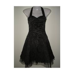 Black damask gothic,emo,party prom mini dress (14) (£20) ❤ liked on Polyvore featuring dresses, gothic prom dresses, party dresses, night out dresses, cocktail prom dress and short party dresses