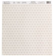 Tan Hearts Scrapbook Paper by Recollections®