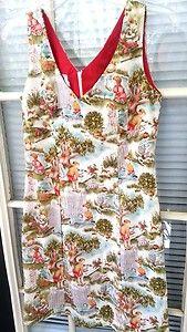 Love Life Felice Pappas Children Playing Retro 50s Sheath Dress Size Small 4 | eBay $44.50