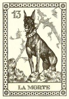 Menegazzi 1991 Vintage Set of 4 Dog Fortune Telling Tarot Canine Cards