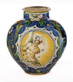 Majolica Vase with St. Sebastian, Venice, 16th century.