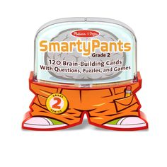 Melissa and Doug Smarty Pants 2nd Grade Card Set - 120 Educational Brain-Building Questions, Puzzles, and Games >>> Visit the image link more details. (This is an affiliate link)