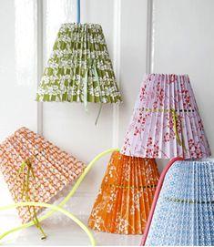 Pleated Lampshades - DIY