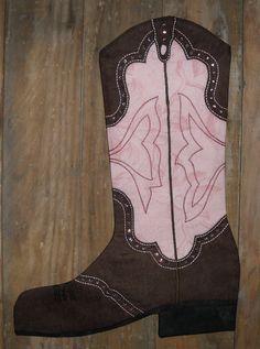 Cowboy Boot Christmas Stocking Pattern, 2009 PDF Version