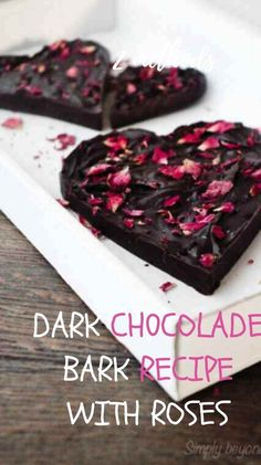 This luxurious and homemade dark chocolate bark with chilli and rose petals is full of healthy ingredients that will enhance your well-being and won't threaten your waistline. #chocolatebar, #homemadechocolate, #healthychocolate, #realfood, #recipeswithherbs
