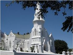 Whitest of the White (Malmesbury, South Africa). Photo by Marie Theron. Sa Tourism, Old Time Religion, St Helena, Cathedral Church, Church Building, Mosques, Cathedrals, Kirchen, Countries Of The World