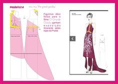 Diagramme pour patron de robe