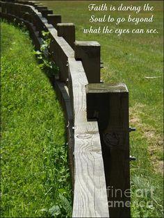 Daring the Soul by Sara Raber #faith #inspirational #inspire #art #prints #HomeDecor #fences
